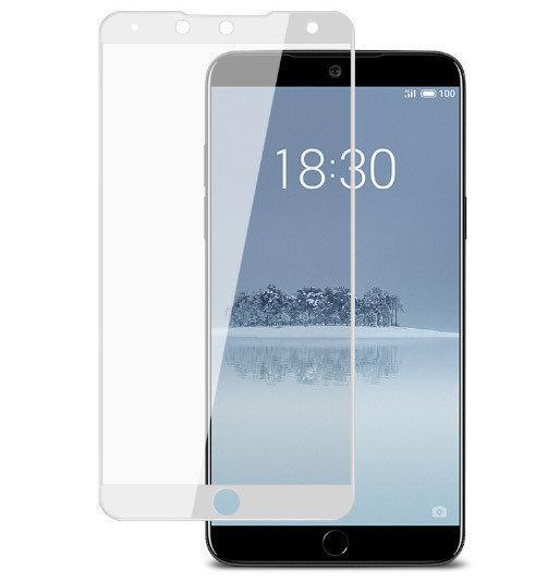 Full Cover захисне скло для Meizu 15 Lite - White