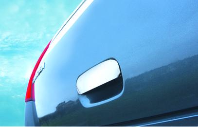 Накладка на ручку крышки багажника (нерж.) - Citroen C-4 2005-2010 гг.
