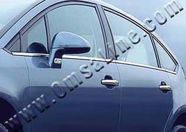 Наружняя окантовка стекол (нерж.) - Citroen C-4 2005-2010 гг.