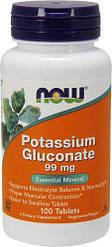 NOW_Potassium Gluconate 99 мг - 100 таб