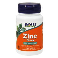 NOW_Zinc Gluconate 50 мг - 100 таб