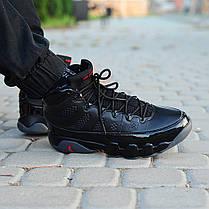 Мужские кроссовки Nike Air Jordan 9 Retro Black Dark Charcoal топ реплика, фото 3