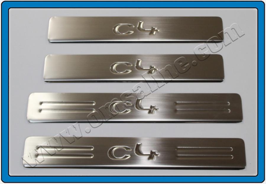 Накладки на пороги (4 шт, нерж.) - Citroen C-4 2010+ гг.