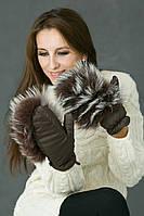 Варежки теплые зимние женские nat.meh в расцветках