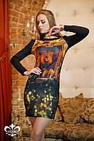 """Женское платье """"Леонарда"""" (черный), фото 1"""