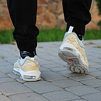 Мужские кроссовки Nike Air Max 98 x Supreme золото топ реплика, фото 3
