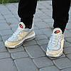 Мужские кроссовки Nike Air Max 98 x Supreme золото топ реплика, фото 6