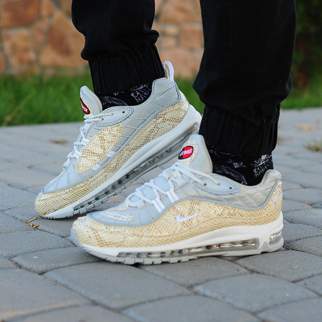 Мужские кроссовки Nike Air Max 98 x Supreme золото топ реплика