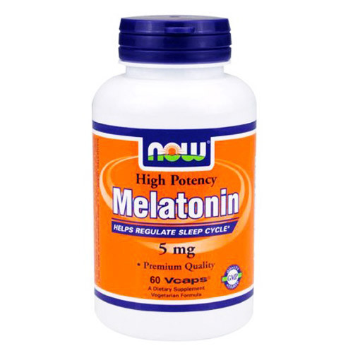 NOW_Melatonin 5 мг - 60 кап веган