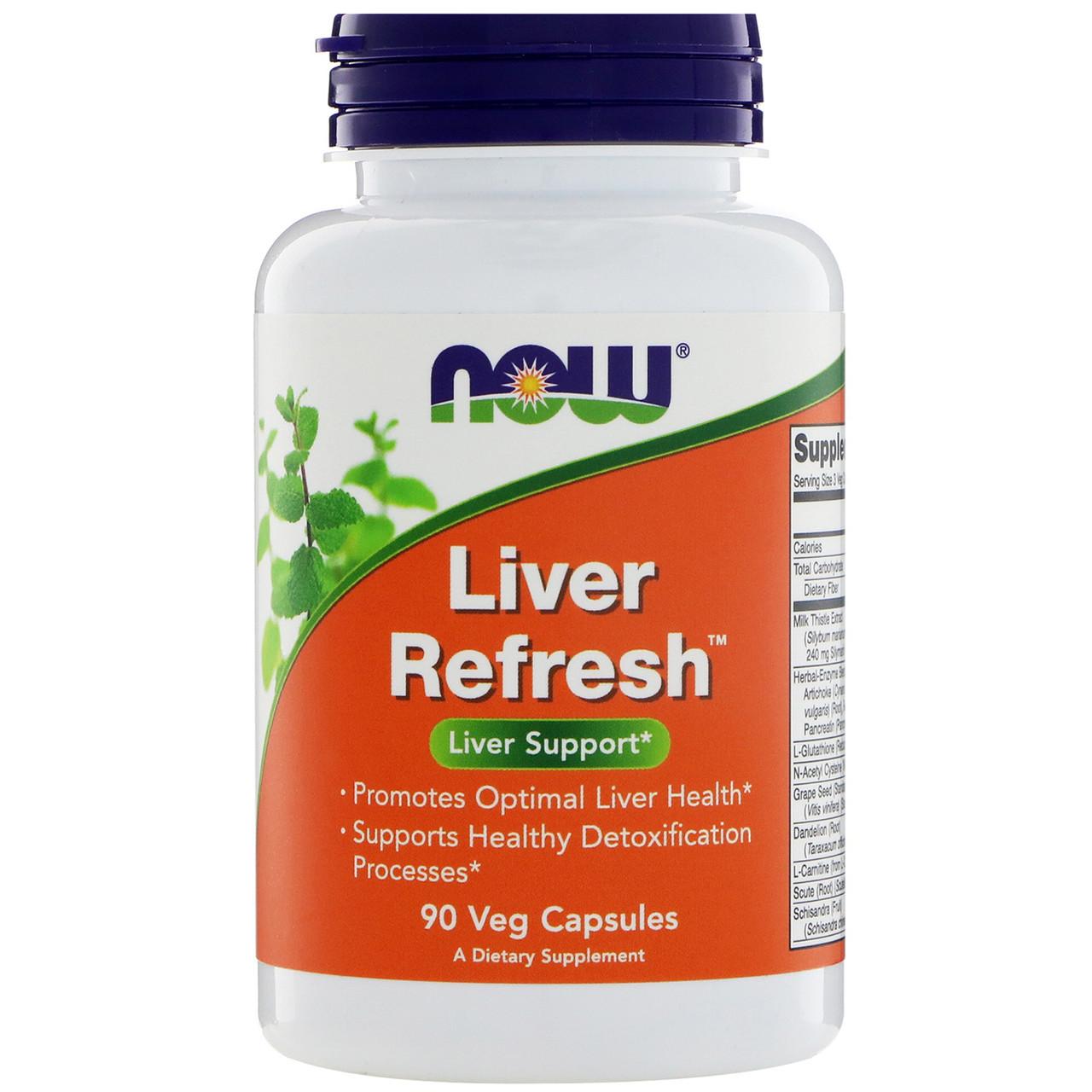 NOW_Liver Refresh - 90 кап веган