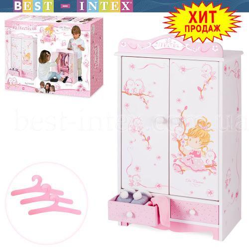 Деревянный шкаф для куклы DeCuevas 54023 (32-54-20см)