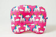 Детская ортопедическая подушка BabySoon Розовые пони 22 х 26 см (547)