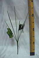 Ножка букетная на 7 голов с листом, 37 см