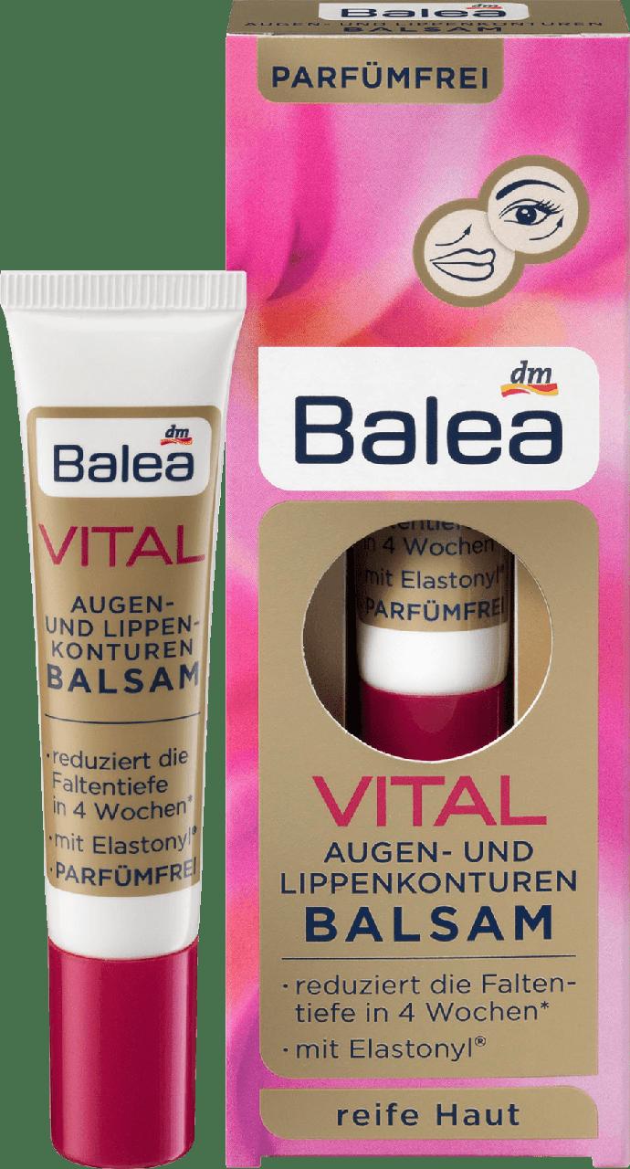 Сыворотка для глаз и губ Balea Vital Balsam, 15 мл.