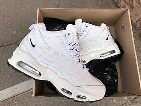 Кроссовки зимние женские в стиле Nike Air Max 95 белые, фото 2