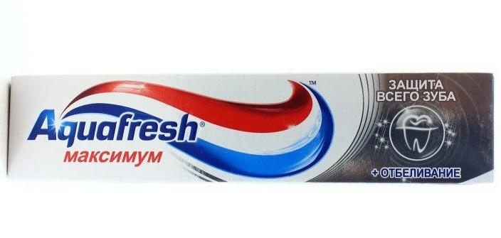 "Паста зубная ""Aquafresh"" Максимум + отбеливаие 100 мл"