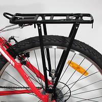 """Багажник """"Две трубы"""" велосипедный алюминиевый"""