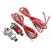 Серебристый / красный цвет V6 1.75 мм Все металлические J-Head Hotend Дистанционный Экструдер Набор с подогревом Трубка - 1TopShop