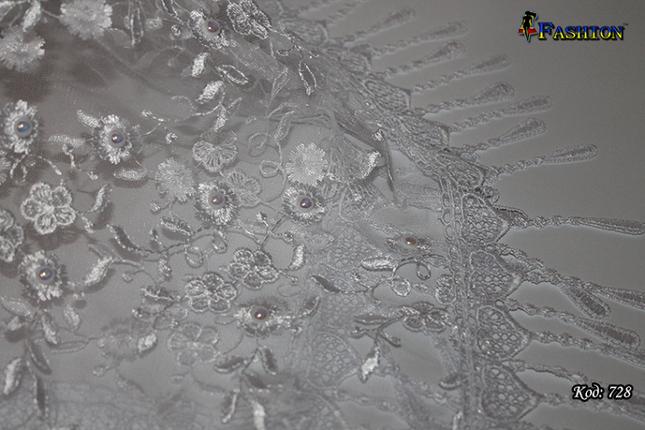 Свадебный платок с жемчугом Ибби, фото 2