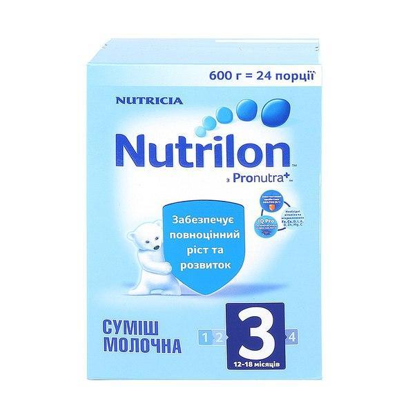 Сухая молочная смесь Nutrilon 3, 600 г