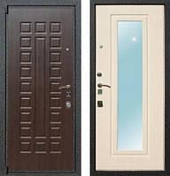 Входная дверь  Мари №1 метал+МДФ+зеркало