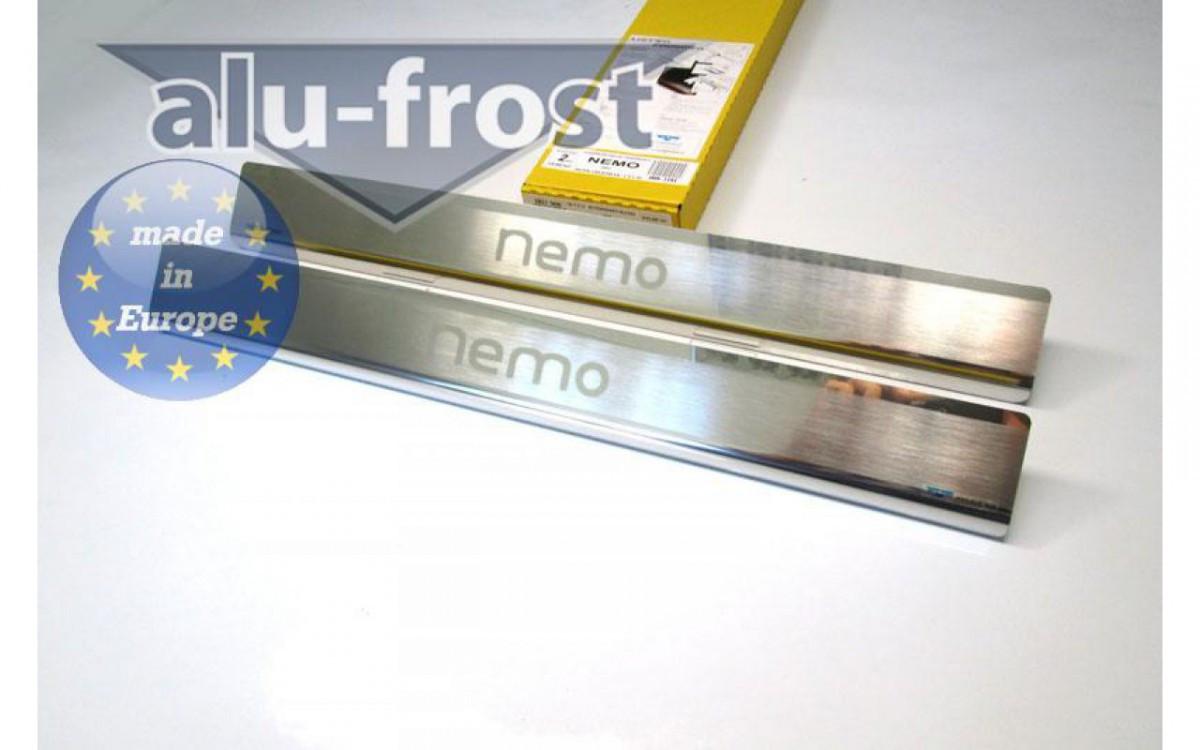 Накладки на пороги Натанико (2 шт, нерж) - Citroen Nemo 2008+ гг.