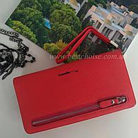 Клатч женский Baellerry Monaco. Удобный и вместительный. Красный цвет.