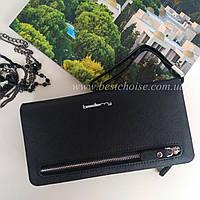 Клатч женский Baellerry Monaco. Удобный и вместительный. Черный цвет.