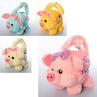 Детская сумка игрушка свинка 1658: 4 цвета
