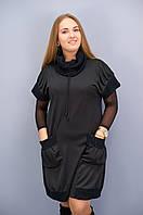 Элла. Платья больших размеров. Черный. 62-64
