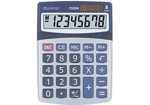 Калькулятор настольный 8 разрядный Optima O75504