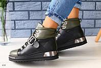 Стильные ботинки деми хаки, фото 1