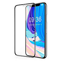 Захисне скло Apple iPhone 11/iPhone Xr 3D Curved Entire View Tempered Glass прозоре (чорне) Mr.Yes