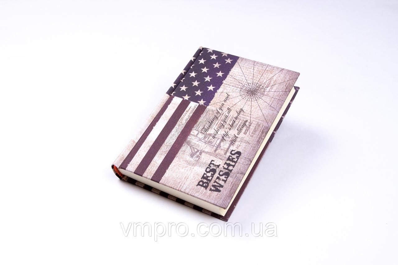 "Блокнот ""American Flag"" A-6 160 аркушів, №GYBW-12"