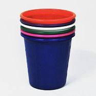 """Корзина  пластиковая для мусора """"Панда"""" , Диаметр - 235мм (черная, цветная)"""