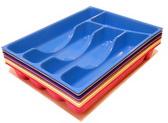 Лоток для столовых приборов пластиковый на 5 секций (цвет в ассортименте)