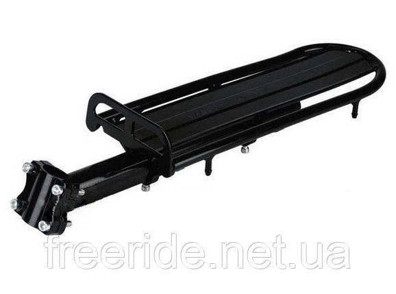 """Вело Багажник 24 - 26"""" консольный - алюминий, черный, фото 2"""