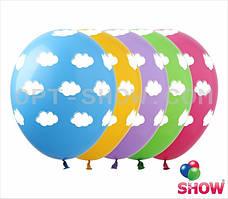 """Воздушные шары """"Облака голубой+розовый"""" 12""""(30 см) пастель В упак: 100шт ТМ Арт «SHOW»"""