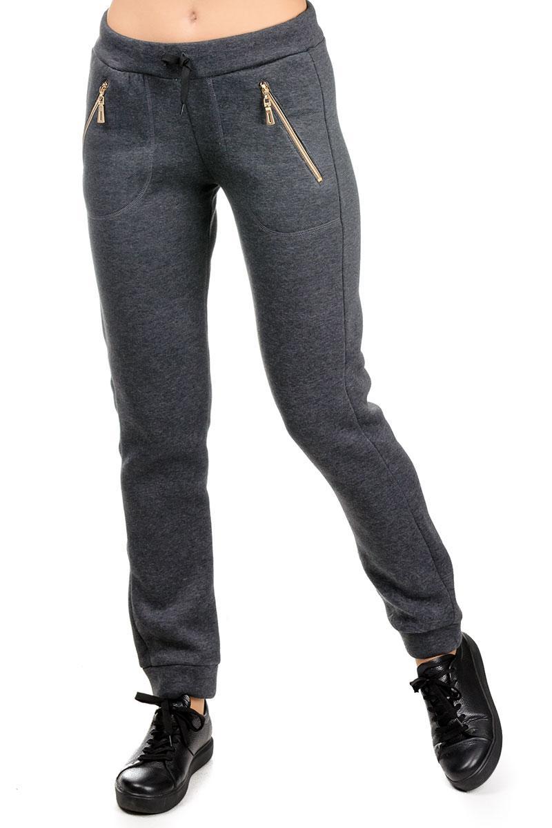"""Молодежные женские  спортивные штаны """"Город"""", темно-серые, размеры M - 4XL"""