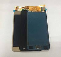 Дисплей модуль Samsung  J200F Galaxy J2, J200G Galaxy J2, J200H Galaxy J2, J200Y Galaxy J2 TFT в зборі з тачскріном, золотистий Copy