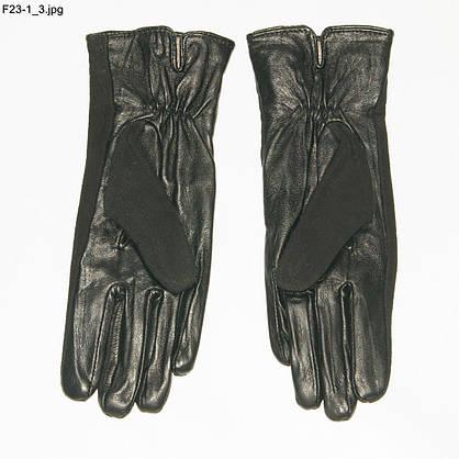 Оптом женские замшевые перчатки с кожаной ладошкой с плюшевой подкладкой - №F23-1, фото 2