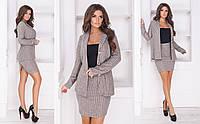 d89d1fe98ca Женский костюм 2-ка - пиджак на пуговицах и мини юбка из ангоры с люрексовой