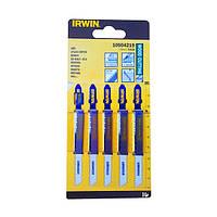 Пилки Irwin тип T101B для электролобзика, для резки дерева, 5 шт.