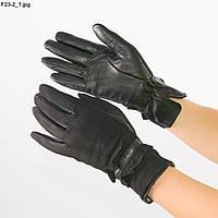 Оптом женские замшевые перчатки с кожаной ладошкой с плюшевой подкладкой - №F23-2, фото 1