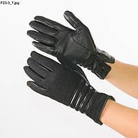 Оптом женские замшевые перчатки с кожаной ладошкой с плюшевой подкладкой - №F23-3, фото 1