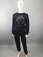 Костюм женский теплый на флисе в размерах S,M,L,XL производства Турции черного цвета