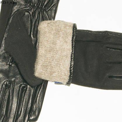 Оптом женские замшевые перчатки с кожаной ладошкой с плюшевой подкладкой - №F23-4, фото 3