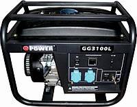 Бензогенератор Q-Power Рro GG3100L 2,8кВт(3,1), фото 1