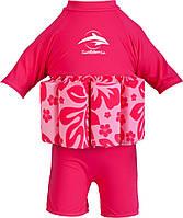 Купальник-поплавок Konfidence Floatsuits, Hibiscus -Pink (FS05-B)