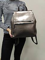 """Женский кожаный рюкзак-сумка(трансформер) """"Жозефина Silver"""""""